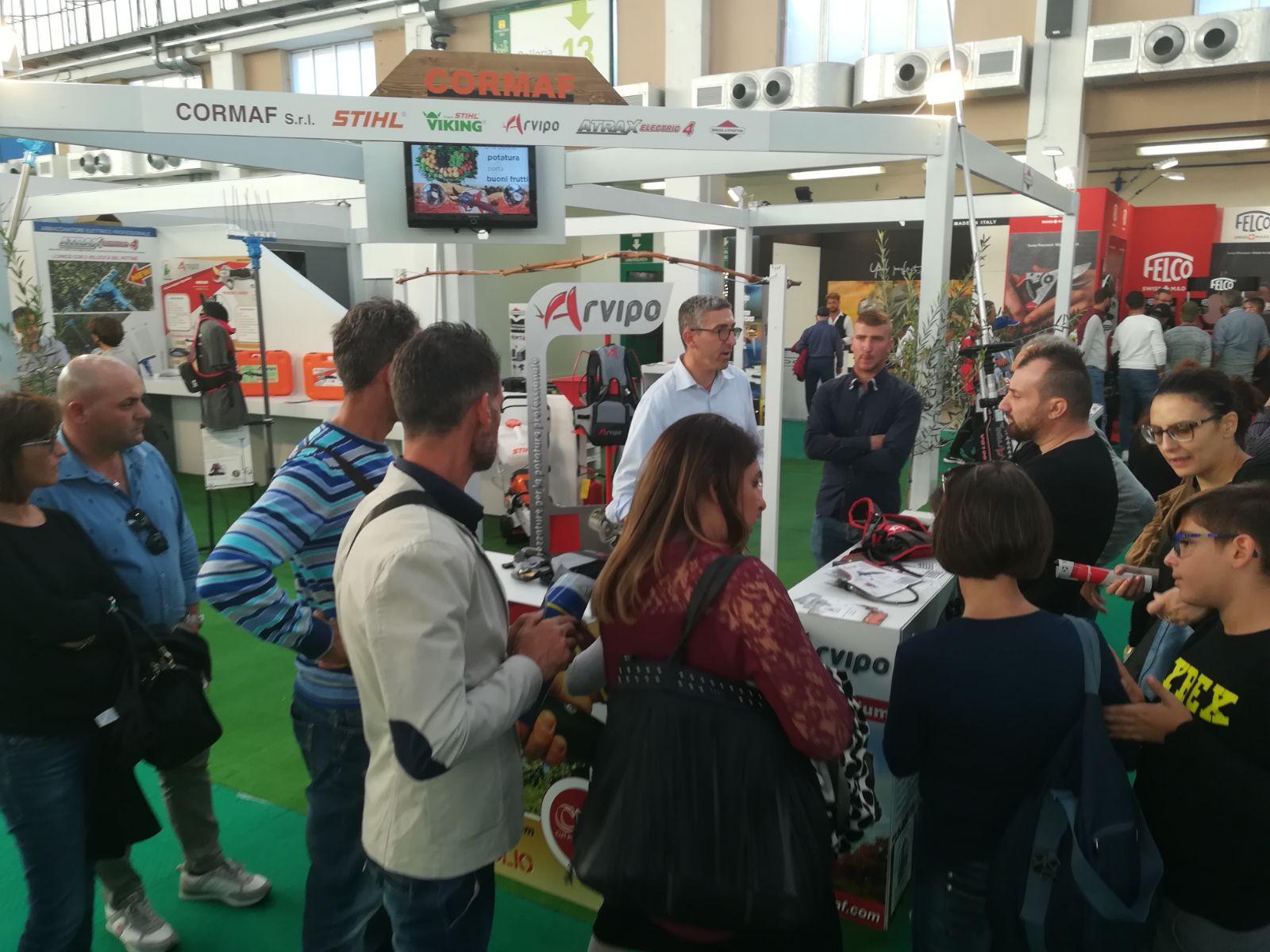 Arvipo en la feria Agrilevante 2019 Italia